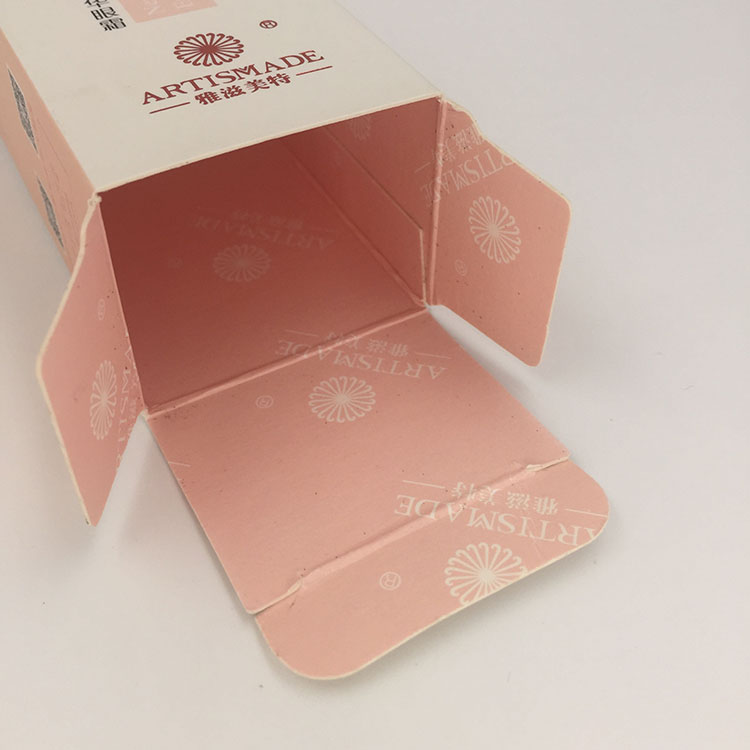 White Paperboard Hot Foil Stamping Custom Lotion Box