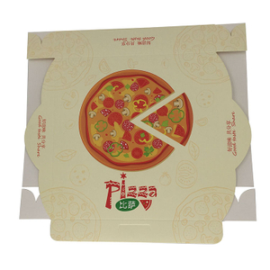 Customized Logo Design White Cardboard Pizza Delivery Box