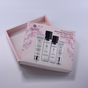 Spot UV White Paperboard Set Gift Cosmetic Packaging Box