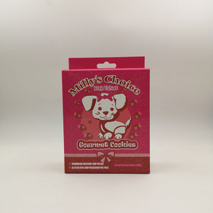 Custom White Paperboard Pet Cookie Box
